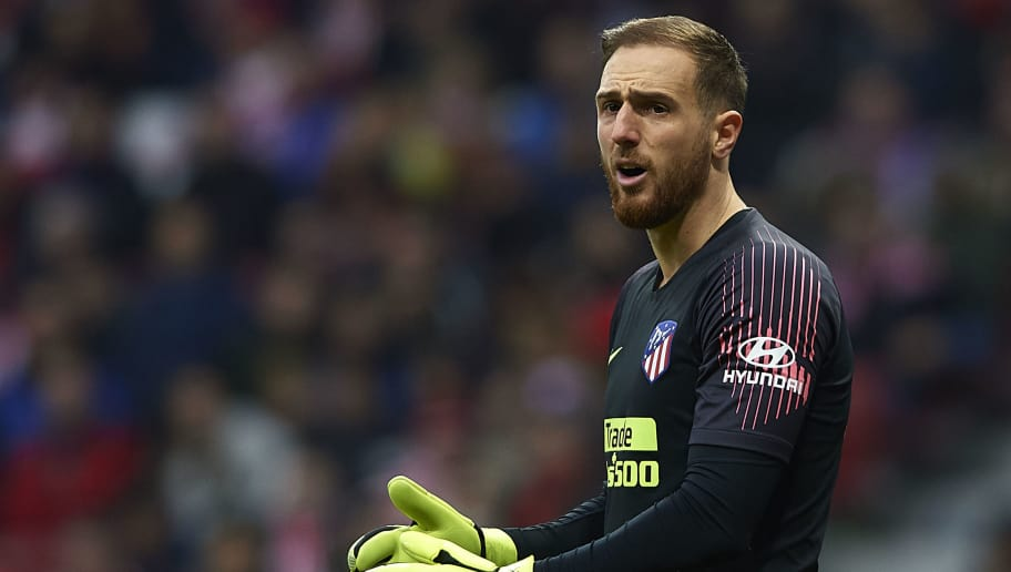 MADRID, SPAIN - DECEMBER 22: Jan Oblak of Atletico de Madrid looks on during the La Liga match between  Club Atletico de Madrid and RCD Espanyol at Wanda Metropolitano on December 22, 2018 in Madrid, Spain. (Photo by Quality Sport Images/Getty Images)