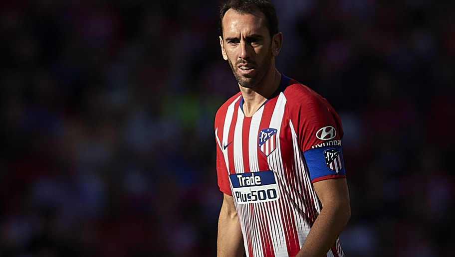 MADRID, SPAIN - OCTOBER 07:  Diego Godin of Club Atletico de Madrid looks on during the La Liga match between Club Atletico de Madrid and Real Betis Balompie at Wanda Metropolitano on October 7, 2018 in Madrid, Spain.  (Photo by Quality Sport Images/Getty Images)