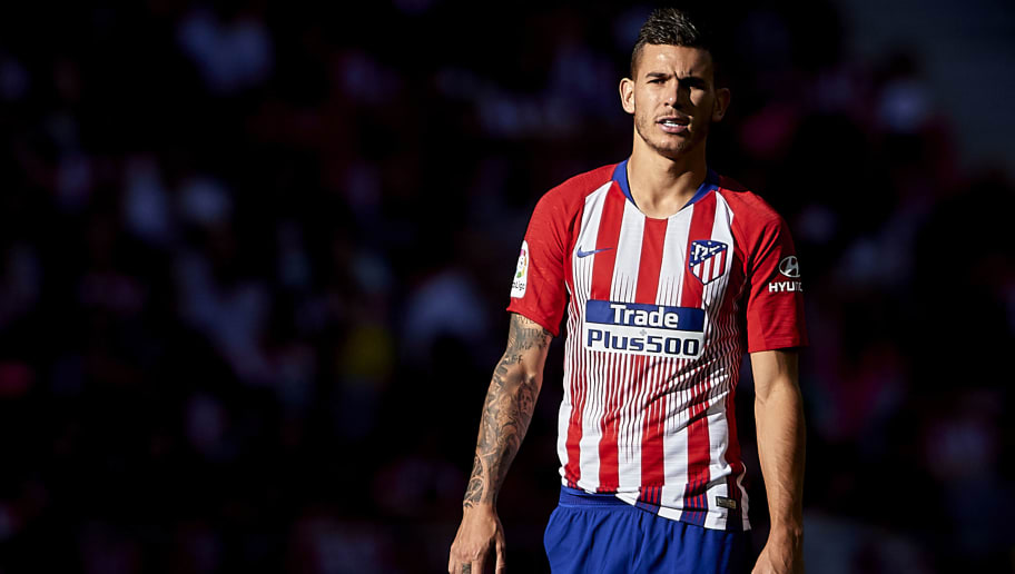MADRID, SPAIN - OCTOBER 07:  Lucas Hernandez of Club Atletico de Madrid looks on during the La Liga match between Club Atletico de Madrid and Real Betis Balompie at Wanda Metropolitano on October 7, 2018 in Madrid, Spain.  (Photo by Quality Sport Images/Getty Images)