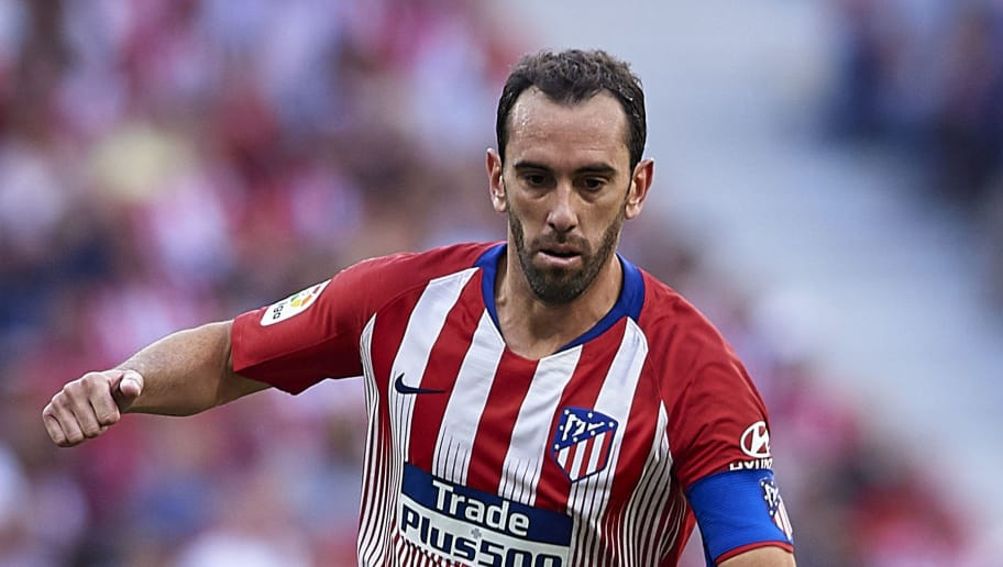 MADRID, SPAIN - OCTOBER 07:  Diego Godin of Club Atletico de Madrid in action during the La Liga match between Club Atletico de Madrid and Real Betis Balompie at Wanda Metropolitano on October 7, 2018 in Madrid, Spain.  (Photo by Quality Sport Images/Getty Images)
