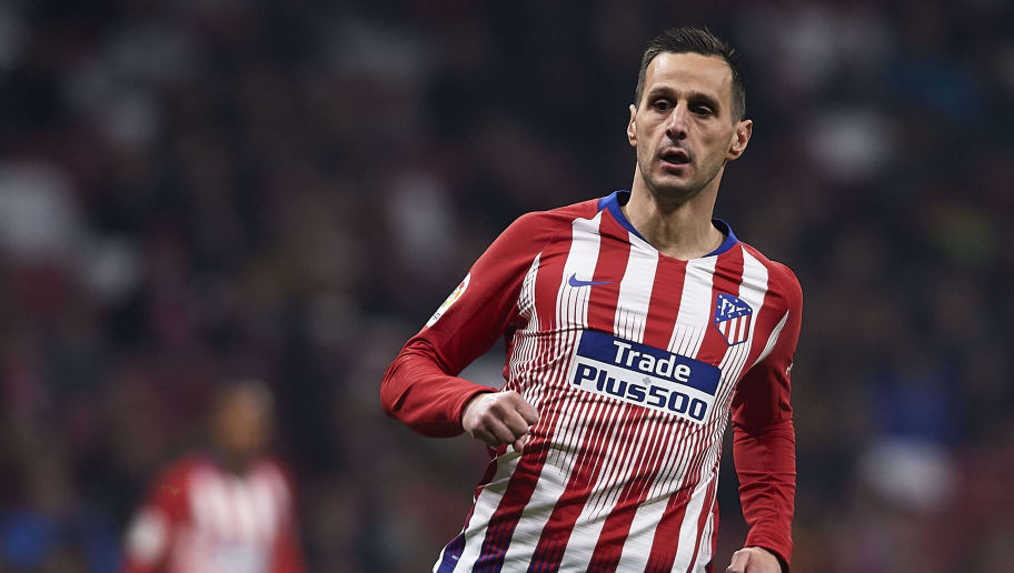 MADRID, SPAIN - DECEMBER 05: Nikola Kalinic of Atletico de Madrid looks on during the Spanish Copa del Rey second leg match between Atletico de Madrid and Sant Andreu at Estadio Wanda Metropolitano on December 05, 2018 in Madrid, Spain. (Photo by Quality Sport Images/Getty Images)
