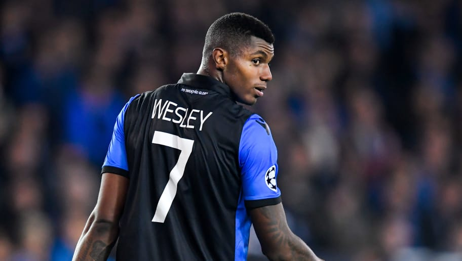 BRUGGE, BELGIUM - OCTOBER 24: Wesley of Club Brugge  during the UEFA Champions League  match between Club Brugge v AS Monaco at the Jan Breydel Stadium on October 24, 2018 in Brugge Belgium (Photo by Angelo Blankespoor/Soccrates/Getty Images)