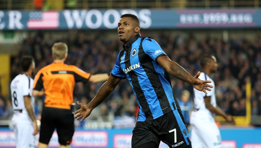 BRUGGE, BELGIUM - SEPTEMBER 29: Wesley Moraes celebrates after scoring a goal during the Jupiler Pro League match between Club Brugge and Cercle Brugge KSV at Jan Breydel Stadium on September 29, 2018 in Brugge, Belgium. (Photo by Vincent Van Doornick/Isosport/MB Media/Getty Images)