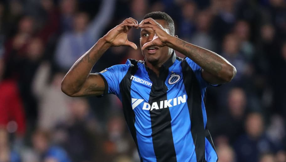 BRUGGE, BELGIUM - SEPTEMBER 14: Wesley Moraes celebrates after scoring a goal during the Jupiler Pro League match between Club Brugge and KSC Lokeren OV at Jan Breydel Stadium on September 14, 2018 in Brugge, Belgium. (Photo by Vincent Van Doornick/Isosport/MB Media/Getty Images)