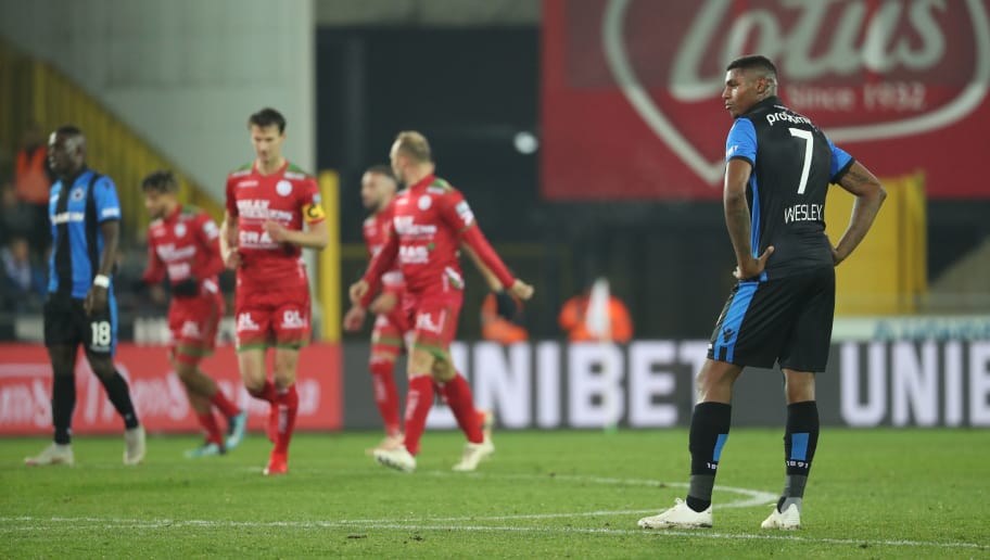 BRUGGE, BELGIUM - NOVEMBER 23: Wesley Moraes looks dejected during the Jupiler Pro League match between Club Brugge and SV Zulte Waregem at Jan Breydel Stadium on November 23, 2018 in Brugge, Belgium. (Photo by Vincent Van Doornick/Isosport/MB Media/Getty Images)
