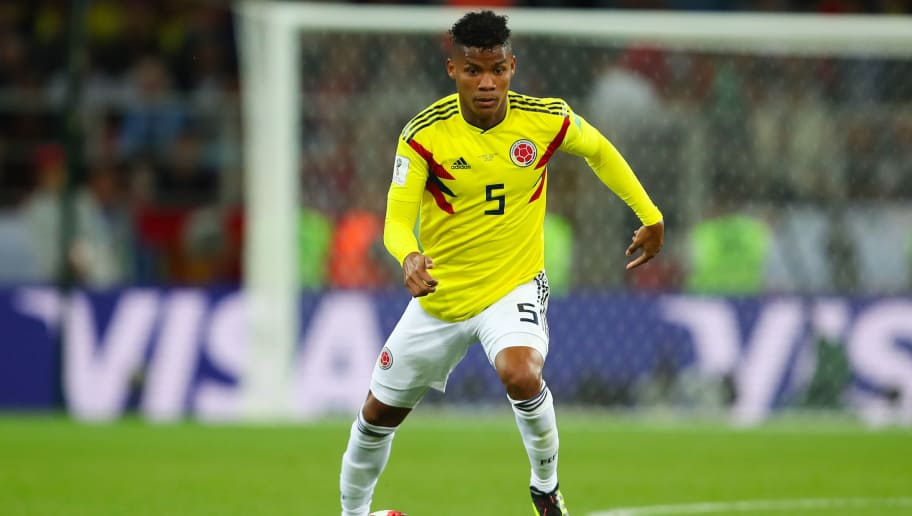MOSCOW, RUSSIA - JULY 03:  Wilmar Barrios of Colombiaa in action during the 2018 FIFA World Cup Russia Round of 16 match between Colombia and England at Spartak Stadium on July 3, 2018 in Moscow, Russia. (Photo by Robbie Jay Barratt - AMA/Getty Images)
