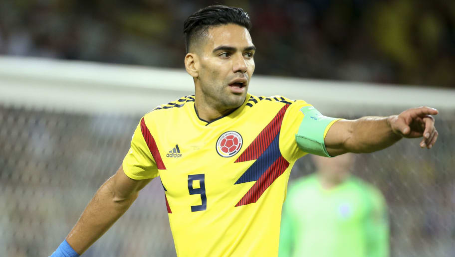 MOSCOW, RUSSIA - JULY 3: Radamel Falcao of Colombia during the 2018 FIFA World Cup Russia Round of 16 match between Colombia and England at Spartak Stadium on July 3, 2018 in Moscow, Russia. (Photo by Jean Catuffe/Getty Images)