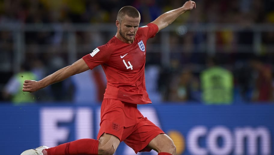 MOSCOW, RUSSIA - JULY 03:  Eric Dier of England in action during the 2018 FIFA World Cup Russia Round of 16 match between Colombia and England at Spartak Stadium on July 3, 2018 in Moscow, Russia.  (Photo by Quality Sport Images/Getty Images)