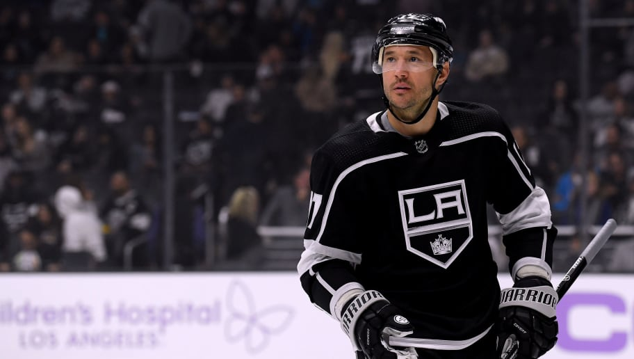 LOS ANGELES, CA - NOVEMBER 03:  Ilya Kovalchuk #17 of the Los Angeles Kings during a stop in play against the Columbus Blue Jackets at Staples Center on November 3, 2018 in Los Angeles, California.  (Photo by Harry How/Getty Images)