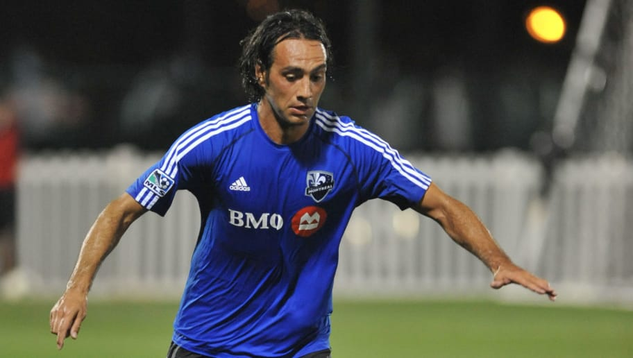 ORLANDO, FL - FEBRUARY 23:  Defender Alessandro Nesta #14 of the Montreal Impact runs upfield against the Columbus Crew in the final round of the Disney Pro Soccer Classic on February 23, 2013 at the ESPN Wide World of Sports Complex in Orlando, Florida.  (Photo by Al Messerschmidt/Getty Images)