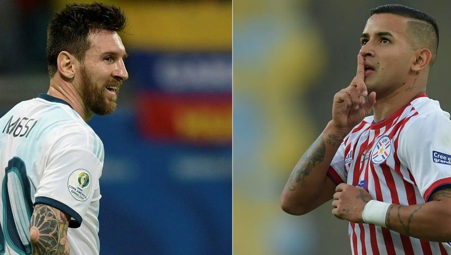 Resultado de imagem para argentina x paraguai