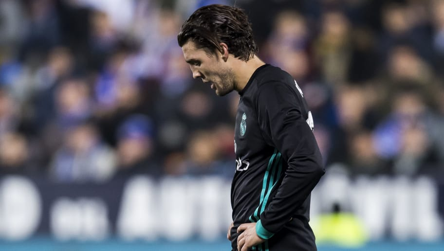 LEGANES, SPAIN - JANUARY 18: Mateo Kovacic of Real Madrid reacts during the Copa del Rey 2017-18 match between CD Leganes and Real Madrid at Estadio Municipal Butarque on 18 January 2018 in Leganes, Spain. (Photo by Power Sport Images/Getty Images)