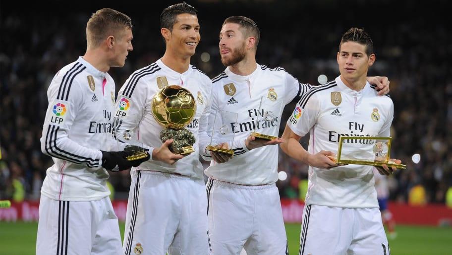 Cristiano Ronaldo,Sergio Ramos,Toni Kroos,James Rodriguez
