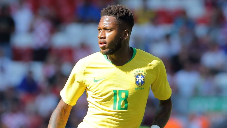 LIVERPOOL, ENGLAND - JUNE 03: Fred of Brazil during the International friendly match between Croatia and Brazil at Anfield on June 3, 2018 in Liverpool, England. (Photo by James Williamson - AMA/Getty Images)