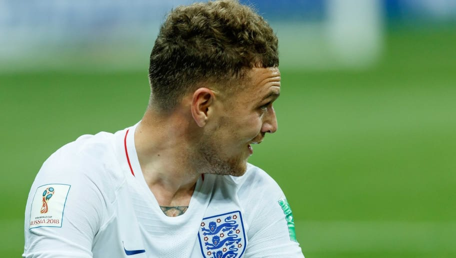 MOSCOW, RUSSIA - JULY 11: Kieran Trippier of England on the ground during the 2018 FIFA World Cup Russia Semi Final match between Croatia and England at Luzhniki Stadium on July 11, 2018 in Moscow, Russia. (Photo by TF-Images/Getty Images)