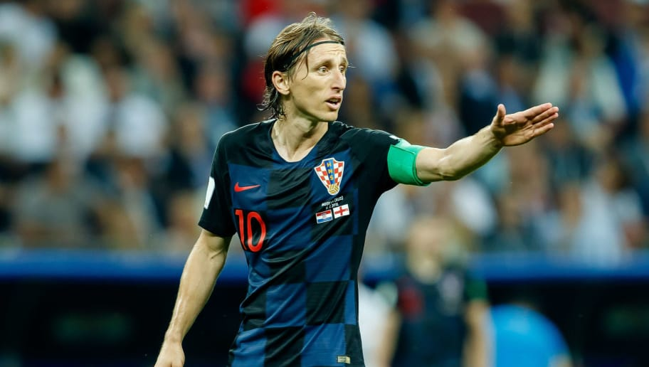 MOSCOW, RUSSIA - JULY 11: Luka Modric of Croatia gestures during the 2018 FIFA World Cup Russia Semi Final match between Croatia and England at Luzhniki Stadium on July 11, 2018 in Moscow, Russia. (Photo by TF-Images/Getty Images)