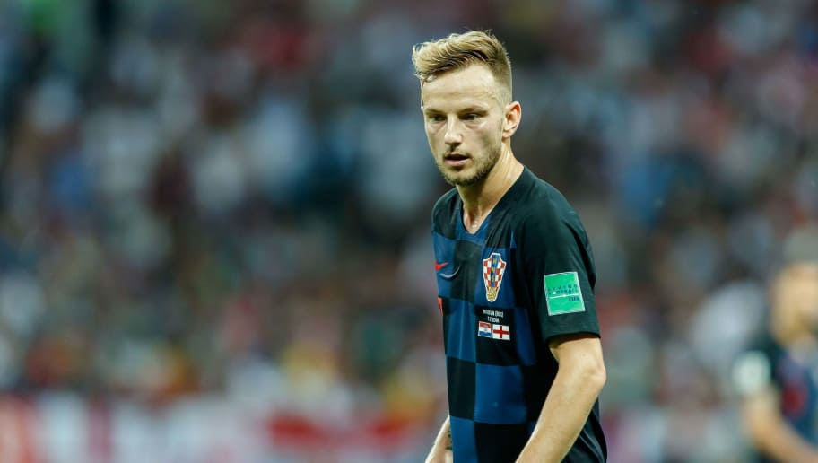 MOSCOW, RUSSIA - JULY 11: Ivan Rakitic of Croatia looks on during the 2018 FIFA World Cup Russia Semi Final match between Croatia and England at Luzhniki Stadium on July 11, 2018 in Moscow, Russia. (Photo by TF-Images/Getty Images)