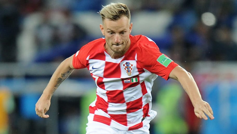KALININGRAD, RUSSIA - JUNE 16: Ivan Rakitic of Croatia in action during the 2018 FIFA World Cup Russia group D match between Croatia and Nigeria at Kaliningrad Stadium on June 16, 2018 in Kaliningrad, Russia. (Photo by Norbert Barczyk/PressFocus/MB Media/Getty Images)`