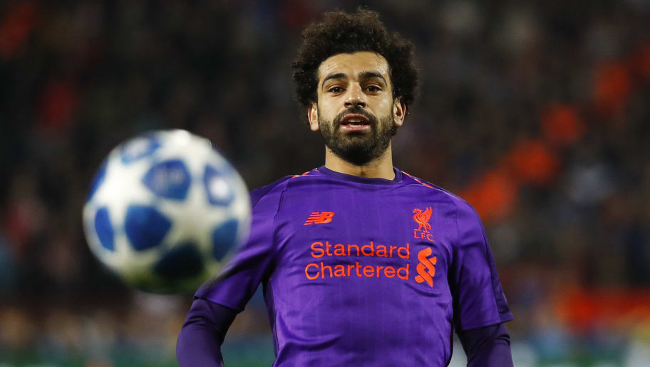 BELGRADE, SERBIA - NOVEMBER 06: Mohamed Salah of Liverpool in action during the Group C match of the UEFA Champions League between Red Star Belgrade and Liverpool at Rajko Mitic Stadium on November 06, 2018 in Belgrade, Serbia. (Photo by Srdjan Stevanovic/Getty Images)
