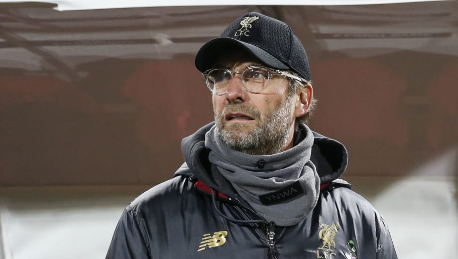 BELGRADE, SERBIA - NOVEMBER 06: Manager Jurgen Klopp of Liverpool looks on prior to the Group C match of the UEFA Champions League between Red Star Belgrade and Liverpool at Rajko Mitic Stadium on November 06, 2018 in Belgrade, Serbia. (Photo by Srdjan Stevanovic/Getty Images)