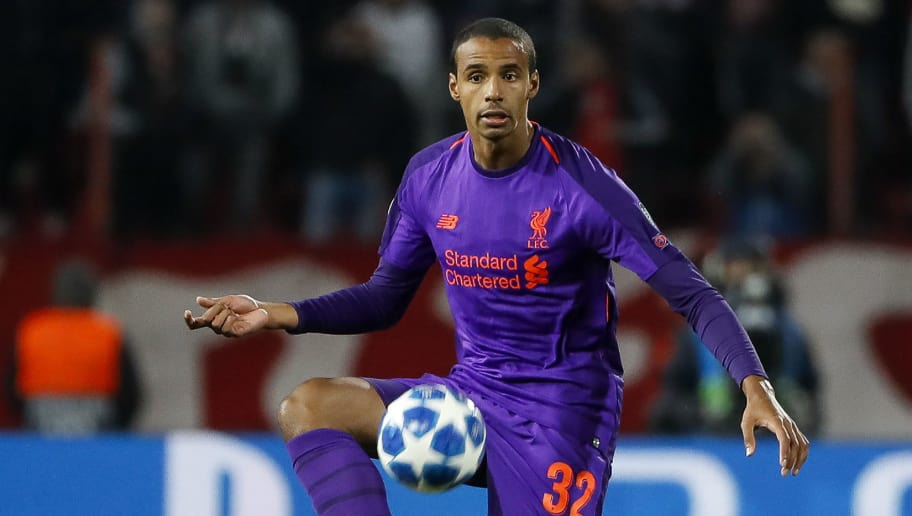 BELGRADE, SERBIA - NOVEMBER 06: Joel Matip of Liverpool in action during the Group C match of the UEFA Champions League between Red Star Belgrade and Liverpool at Rajko Mitic Stadium on November 06, 2018 in Belgrade, Serbia. (Photo by Srdjan Stevanovic/Getty Images)