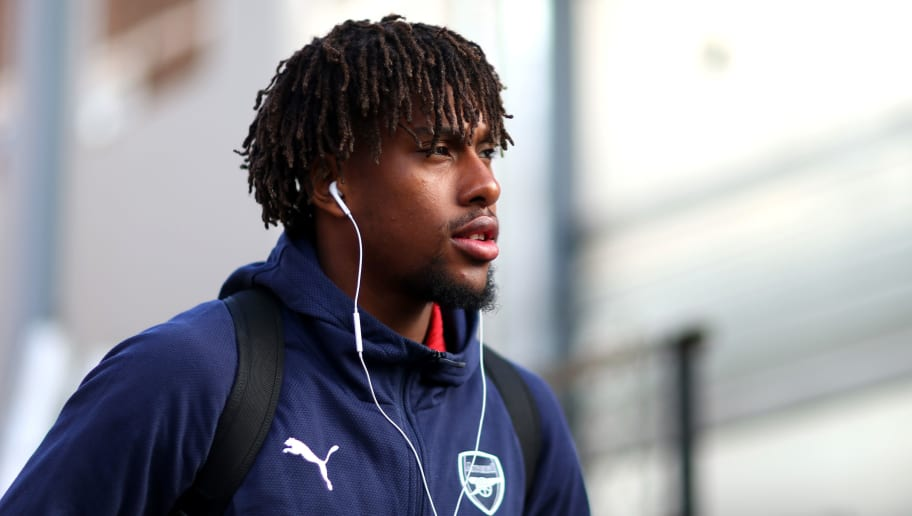 LONDON, ENGLAND - OCTOBER 28: Alex Iwobi of Arsenal arrives at the stadium ahead of the Premier League match between Crystal Palace and Arsenal FC at Selhurst Park on October 28, 2018 in London, United Kingdom. (Photo by Chloe Knott - Danehouse/Getty Images)