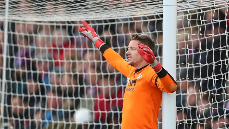 LONDON, ENGLAND - OCTOBER 28: Wayne Hennessey of Crystal Palace during the Premier League match between Crystal Palace and Arsenal FC at Selhurst Park on October 28, 2018 in London, United Kingdom. (Photo by Catherine Ivill/Getty Images)