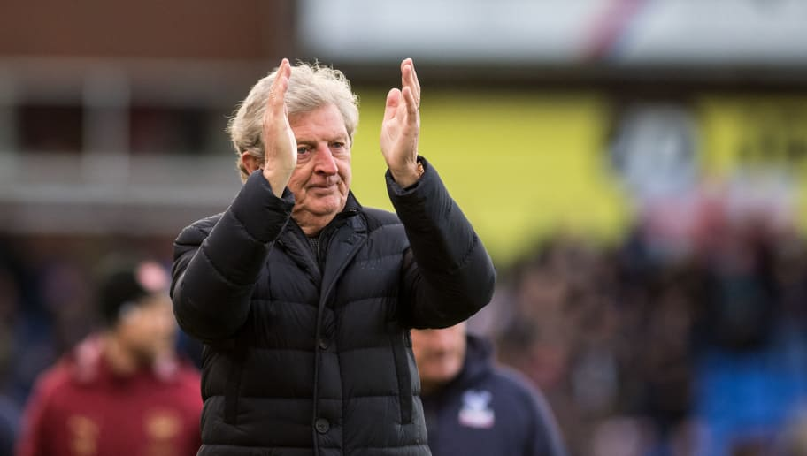 LONDON, ENGLAND - OCTOBER 28: manager Roy Hodgson of Crystal Palace during Premier League match between Crystal Palace and Arsenal FC at Selhurst Park on October 28, 2018 in London, United Kingdom. (Photo by Sebastian Frej/MB Media/Getty Images)