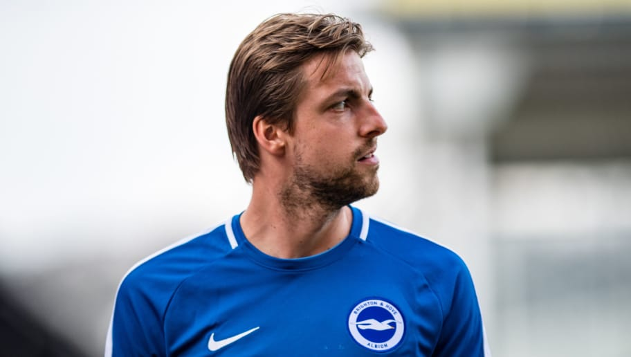 LONDON, ENGLAND - APRIL 14:  Tim Krul of Brighton and Hove Albion during the Premier League match between Crystal Palace and Brighton and Hove Albion at Selhurst Park on April 14, 2018 in London, England. (Photo by MB Media/Getty Images)