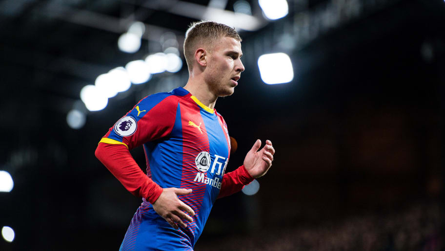 LONDON, ENGLAND - DECEMBER 01: Max Meyer of Crystal Palace looks on during the Premier League match between Crystal Palace and Burnley FC at Selhurst Park on December 1, 2018 in London, United Kingdom. (Photo by Sebastian Frej/MB Media/Getty Images)