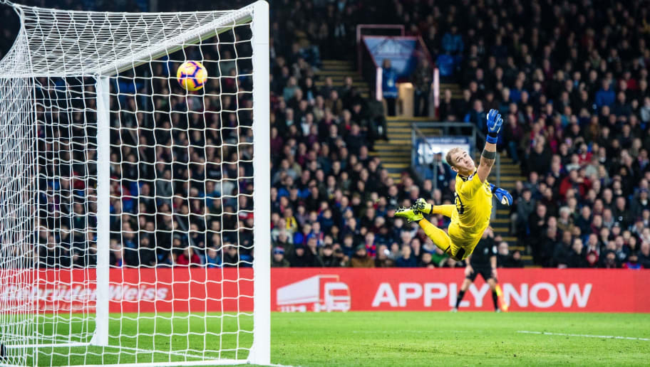 LONDON, ENGLAND - DECEMBER 01: Joe Hart concede 2nd goal of the match scored by Andros Townsend (not on picture) during the Premier League match between Crystal Palace and Burnley FC at Selhurst Park on December 1, 2018 in London, United Kingdom. (Photo by Sebastian Frej/MB Media/Getty Images)