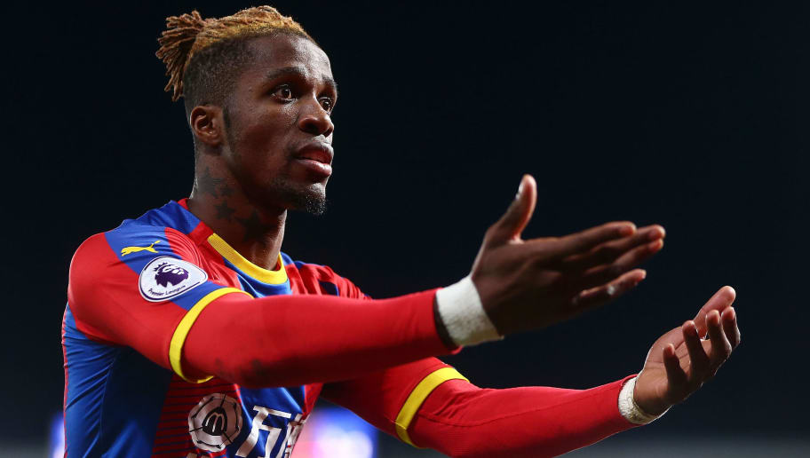 LONDON, ENGLAND - DECEMBER 26:  Wilfred Zaha of Crystal Palace reacts during the Premier League match between Crystal Palace and Cardiff City at Selhurst Park on December 26, 2018 in London, United Kingdom.  (Photo by Jordan Mansfield/Getty Images)