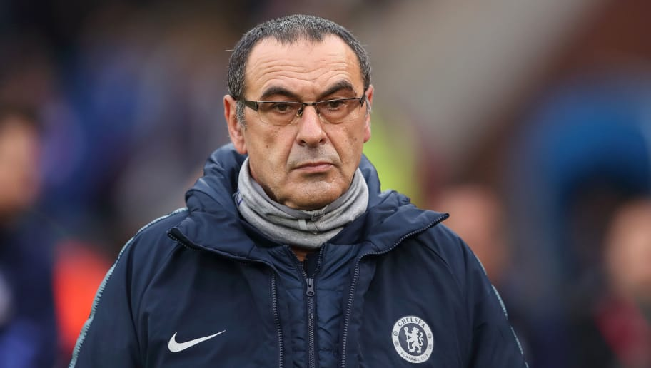 LONDON, ENGLAND - DECEMBER 30: Chelsea manager \ head coach Maurizio Sarri during the Premier League match between Crystal Palace and Chelsea FC at Selhurst Park on December 30, 2018 in London, United Kingdom. (Photo by James Williamson - AMA/Getty Images)