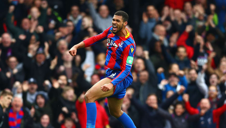 LONDON, ENGLAND - APRIL 28:  Ruben Loftus-Cheek of Crystal Palace celebrates after scoring his sides third goal during the Premier League match between Crystal Palace and Leicester City at Selhurst Park on April 28, 2018 in London, England.  (Photo by Clive Rose/Getty Images)