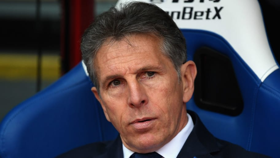 LONDON, ENGLAND - APRIL 28:  Claude Puel, Manager of Leicester City looks on during the Premier League match between Crystal Palace and Leicester City at Selhurst Park on April 28, 2018 in London, England.  (Photo by Michael Regan/Getty Images)