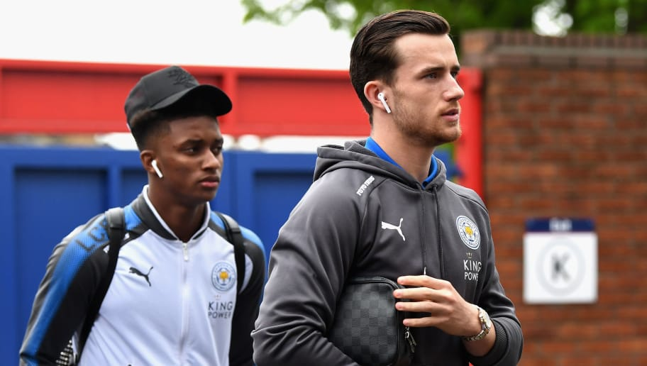 LONDON, ENGLAND - APRIL 28:  Ben Chilwell of Leicester City and Demarai Gray arrive prior to the Premier League match between Crystal Palace and Leicester City at Selhurst Park on April 28, 2018 in London, England.  (Photo by Michael Regan/Getty Images)