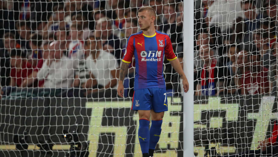 LONDON, ENGLAND - AUGUST 20: Max Meyer of Crystal Palace during the Premier League match between Crystal Palace and Liverpool FC at Selhurst Park on August 20, 2018 in London, United Kingdom. (Photo by Matthew Ashton - AMA/Getty Images)