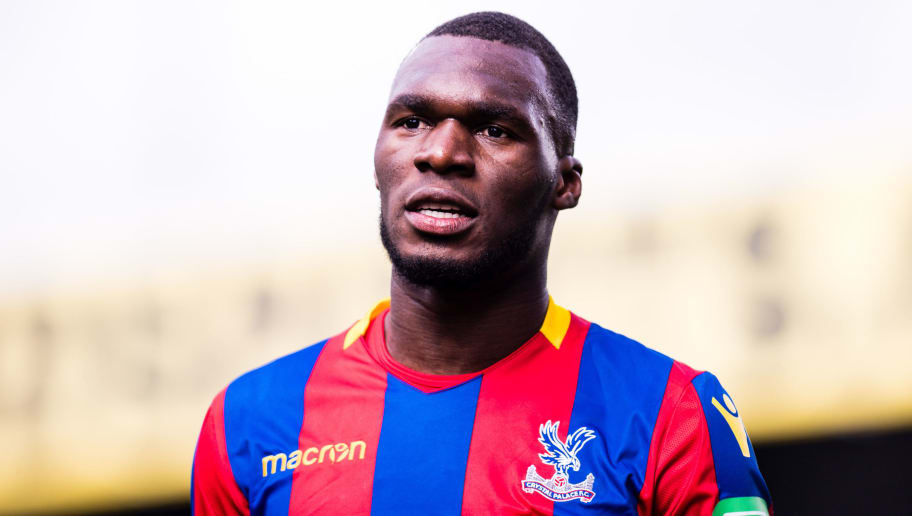 LONDON, ENGLAND - MARCH 31: Christian Benteke (17) of Crystal Palace  during the Premier League match between Crystal Palace and Liverpool at Selhurst Park on March 31, 2018 in London, England. (Photo by MB Media/Getty Images)