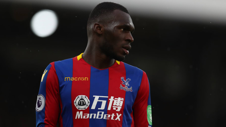 LONDON, ENGLAND - DECEMBER 31: Christian Benteke of Crystal Palace during the Premier League match between Crystal Palace and Manchester City at Selhurst Park on December 31, 2017 in London, England. (Photo by Catherine Ivill/Getty Images)