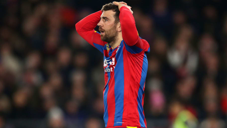 LONDON, ENGLAND - MARCH 05: James McArthur of Crystal Palace reacts during the Premier League match between Crystal Palace and Manchester United at Selhurst Park on March 5, 2018 in London, England. (Photo by Catherine Ivill/Getty Images)
