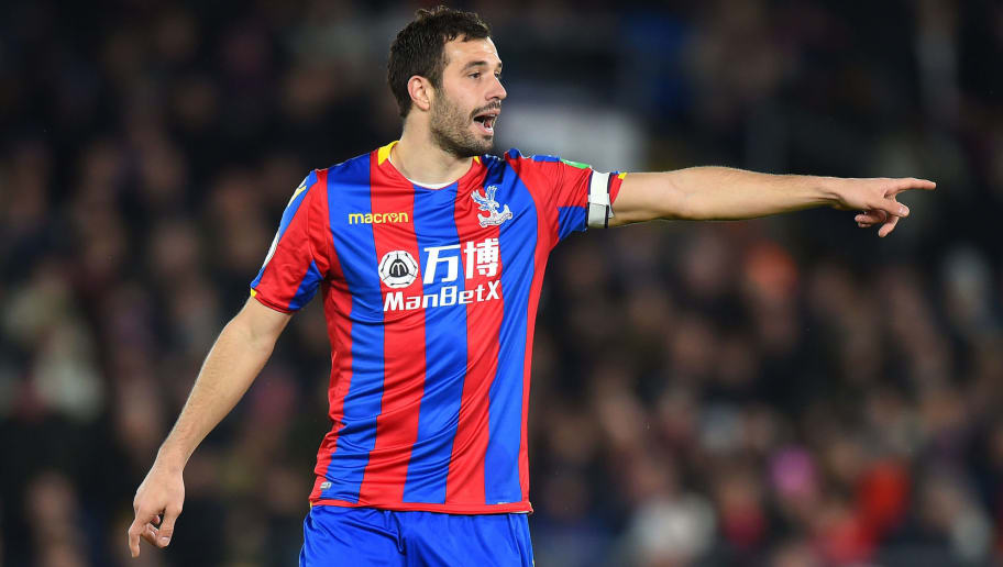 LONDON, ENGLAND - MARCH 05:  Luka Milivojevic of Crystal Palace during the Premier League match between Crystal Palace and Manchester United at Selhurst Park on March 5, 2018 in London, England.  (Photo by Tony Marshall/Getty Images)