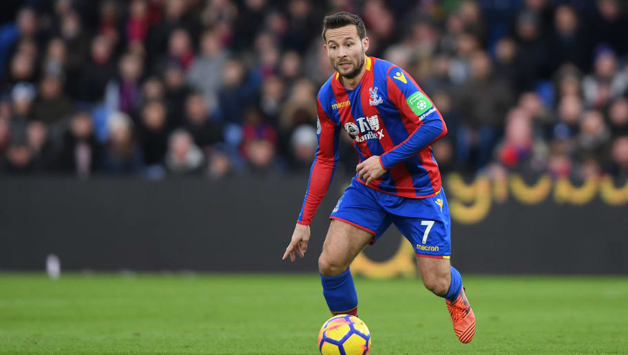 LONDON, ENGLAND - FEBRUARY 04:  Yohan Cabaye of Crystal Palace in action during the Premier League match between Crystal Palace and Newcastle United at Selhurst Park on February 4, 2018 in London, England.  (Photo by Mike Hewitt/Getty Images)
