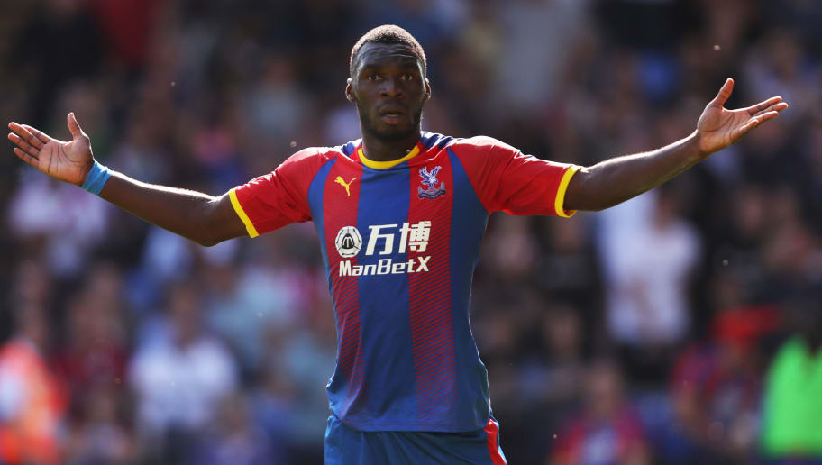LONDON, ENGLAND - SEPTEMBER 01:  Christian Benteke of Crystal Palace reacts during the Premier League match between Crystal Palace and Southampton FC at Selhurst Park on September 1, 2018 in London, United Kingdom.  (Photo by Christopher Lee/Getty Images)