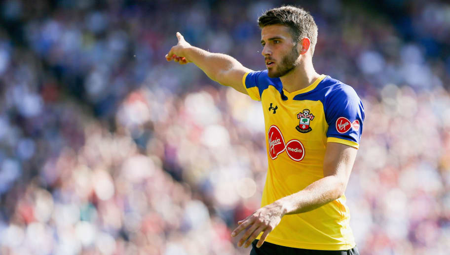 LONDON, ENGLAND - SEPTEMBER 01:  Wesley Hoedt of Southampton during the Premier League match between Crystal Palace and Southampton FC at Selhurst Park on September 1, 2018 in London, United Kingdom.  (Photo by Chloe Knott - Danehouse/Getty Images)