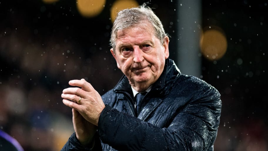LONDON, ENGLAND - NOVEMBER 10: manager Roy Hodgson of Crystal Palace claps after the Premier League match between Crystal Palace and Tottenham Hotspur at Selhurst Park on November 10, 2018 in London, United Kingdom. (Photo by Sebastian Frej/MB Media/Getty Images)