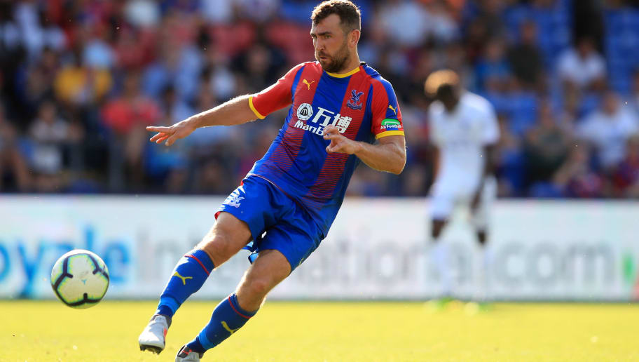 LONDON, ENGLAND - AUGUST 04: James McArthur of Crystal Palace during the Pre-Season Friendly between Crystal Palace and Toulouse at Selhurst Park on August 4, 2018 in London, England. (Photo by Marc Atkins/Getty Images)