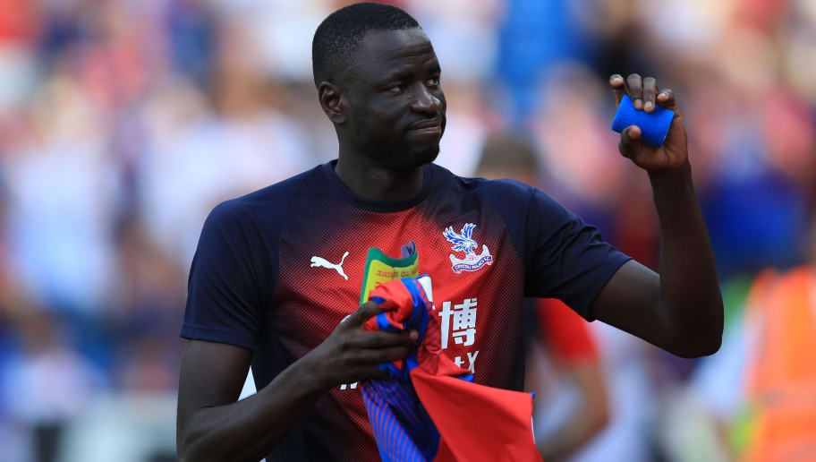 LONDON, ENGLAND - AUGUST 04: Cheikhou Kouyate of Crystal Palace during the Pre-Season Friendly between Crystal Palace and Toulouse at Selhurst Park on August 4, 2018 in London, England. (Photo by Marc Atkins/Getty Images)