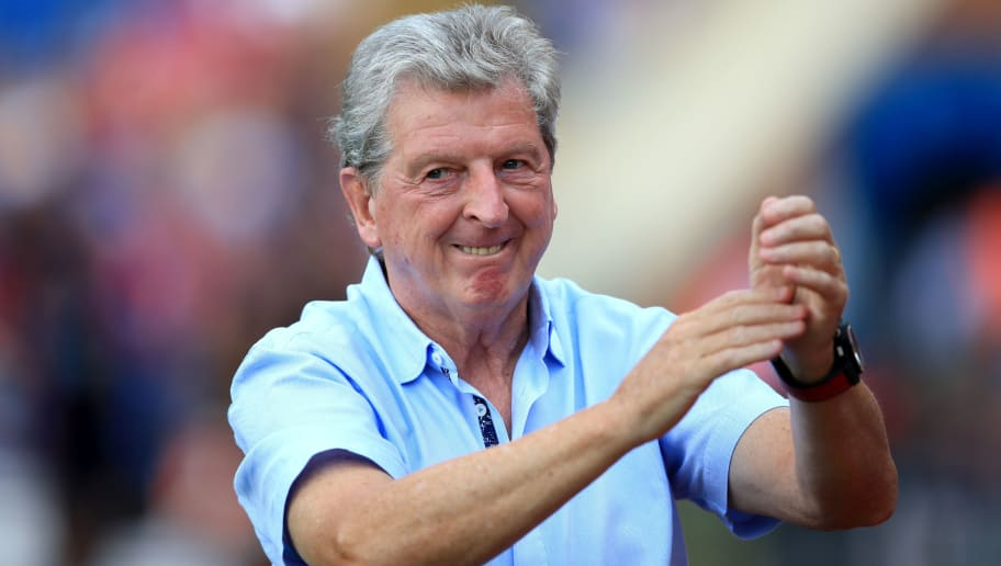 LONDON, ENGLAND - AUGUST 04: Roy Hodgson manager of Crystal Palace during the Pre-Season Friendly between Crystal Palace and Toulouse at Selhurst Park on August 4, 2018 in London, England. (Photo by Marc Atkins/Getty Images)