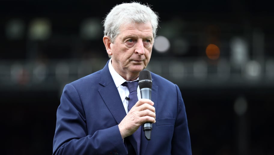 LONDON, ENGLAND - MAY 13:  Roy Hodgson, Manager of Crystal Palace speaks to the fans after the Premier League match between Crystal Palace and West Bromwich Albion at Selhurst Park on May 13, 2018 in London, England.  (Photo by Bryn Lennon/Getty Images)