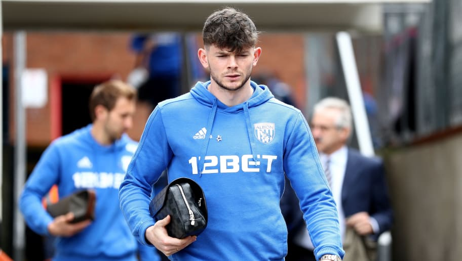 LONDON, ENGLAND - MAY 13:  Oliver Burke of West Bromwich Albion arrives at the stadium prior to the Premier League match between Crystal Palace and West Bromwich Albion at Selhurst Park on May 13, 2018 in London, England.  (Photo by Bryn Lennon/Getty Images)
